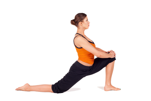 Hip flexor stretch, recommended by Brisbane CBD chiropractors for back pain